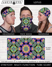 Boho Chic 3 Pack Face Mask- Colorful Bandana- Stretchy Tube Scarf- Psychedelic Geometric Artwork- Cool Festival Designs- Floral Neck Scarf - Jud Hayden Art