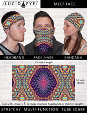 Bass Ninja 3 Pack Bandana Face Mask- Stretchy Tube Scarf-  Galaxy Scarves- Psychedelic Rainbow Artwork- Cool Festival Designs- Cycling Mask - Jud Hayden Art