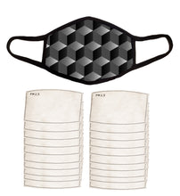 Face Mask, PM 2.5 Filters, Nose Wire, and Filter Pocket, Cotton-Poly Performance Fabric, Adult Large -Extra Large, Cool Design