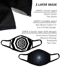2 Pack Face Masks, Small, 3 Layers with Nose Wire and Filter Pocket, Cotton-Poly Performance Fabric, Adult Man Men Women, Small - Medium