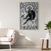 Paisley Monkey Canvas - Jud Hayden Art