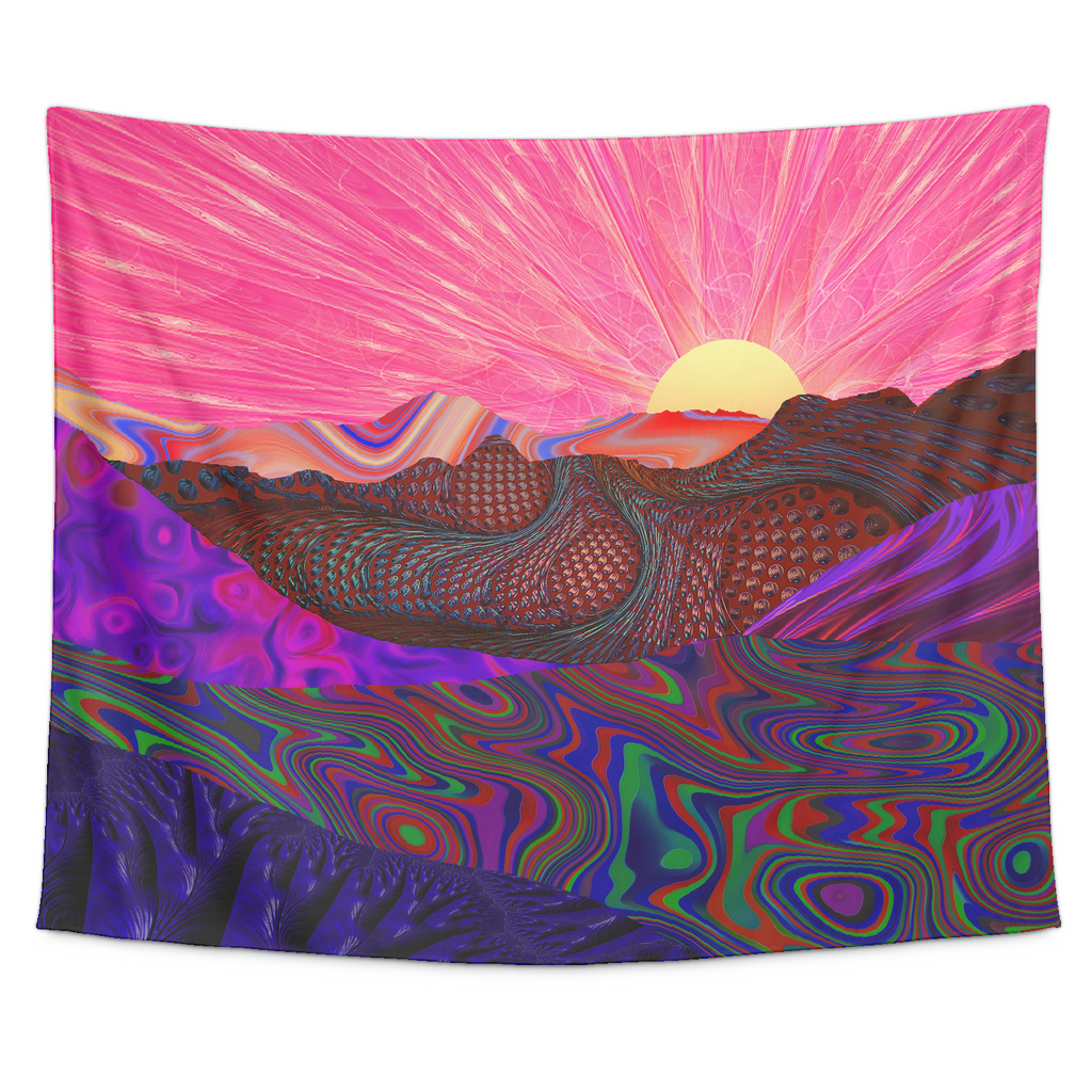 Trippy Trek Tapestry - Jud Hayden Art