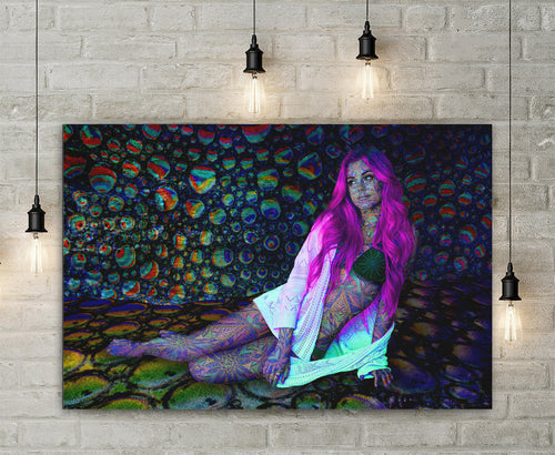 Neon Mirage Canvas