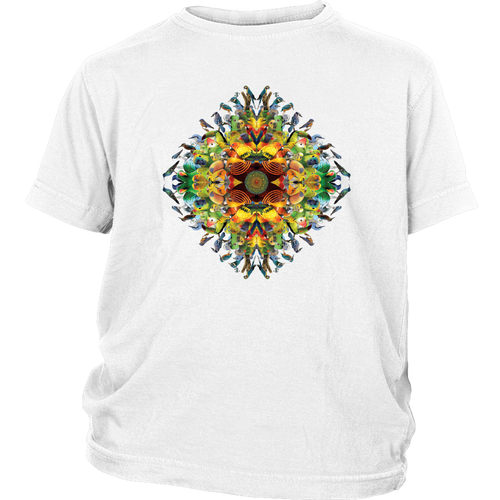 Bird Mandala Youth Shirt - Jud Hayden Art