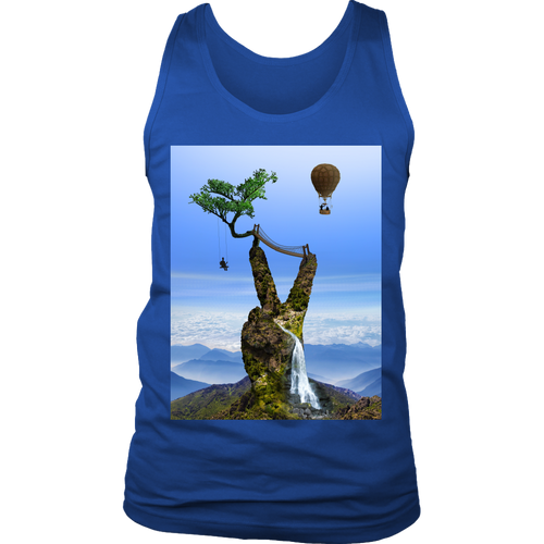 Serene Summit Men's Tank - Jud Hayden Art