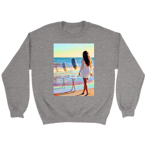 Water Trails Sweatshirt - Jud Hayden Art