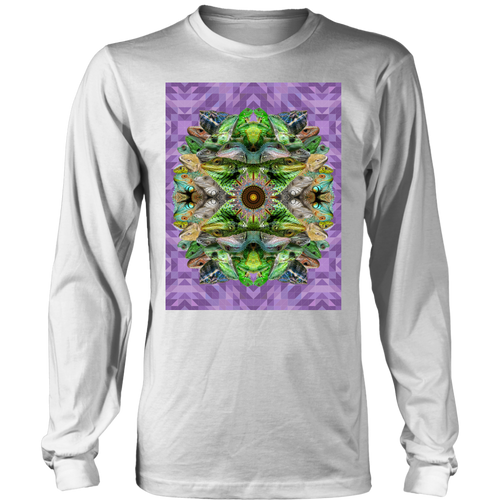 Lizard Mandala Long Sleeve - Jud Hayden Art