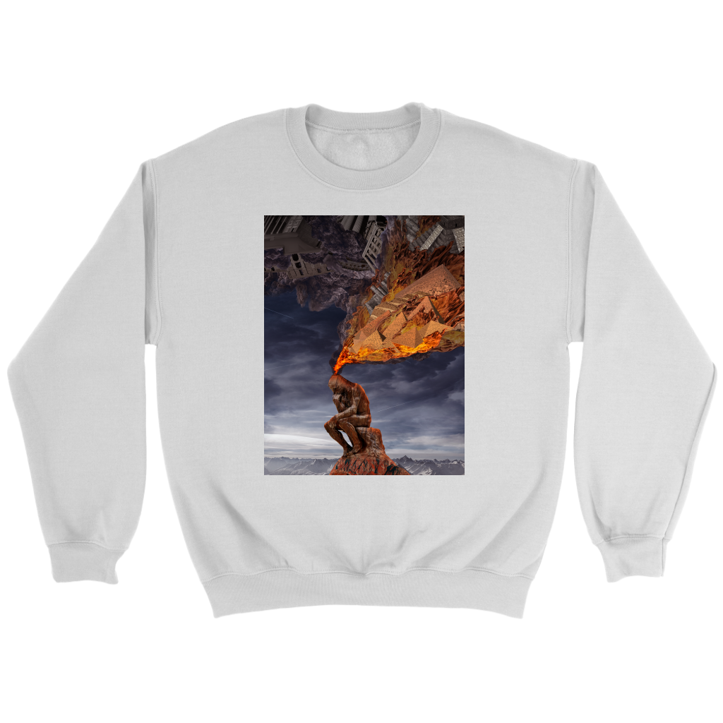 Thinker Sweatshirt - Jud Hayden Art