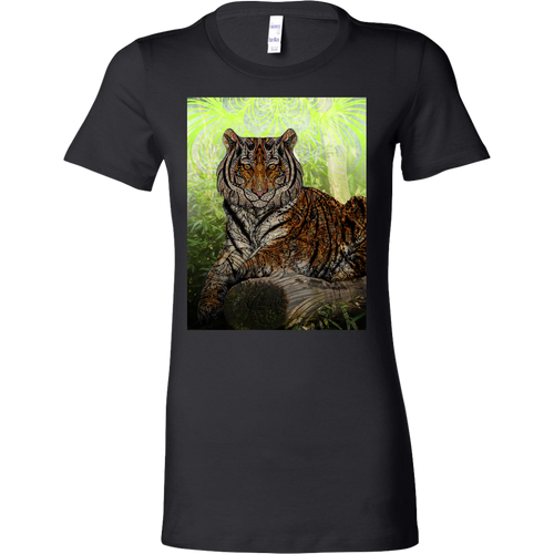 Paisley Tiger Women's Shirt - Jud Hayden Art