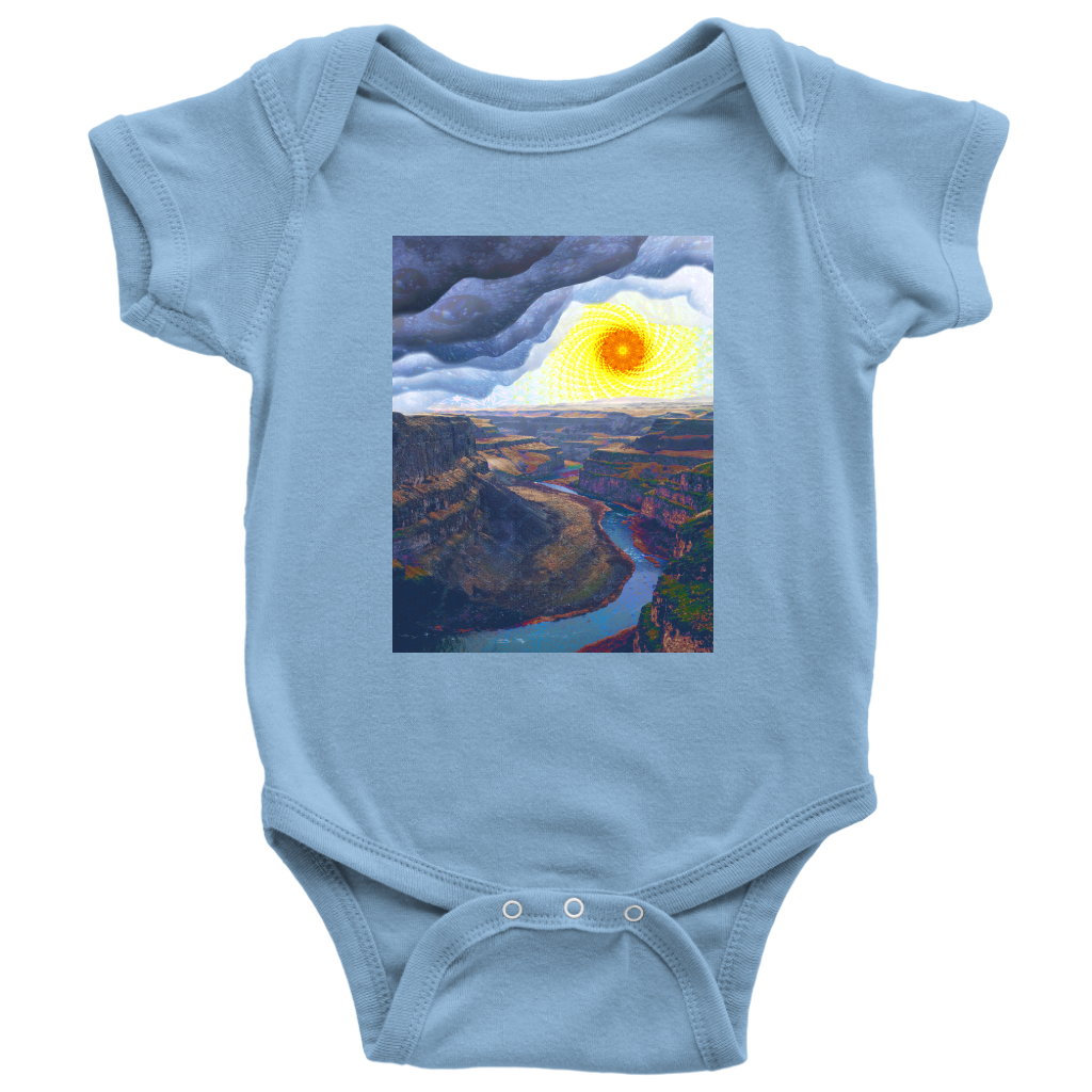 Ancient Canyon Baby Onesie - Jud Hayden Art