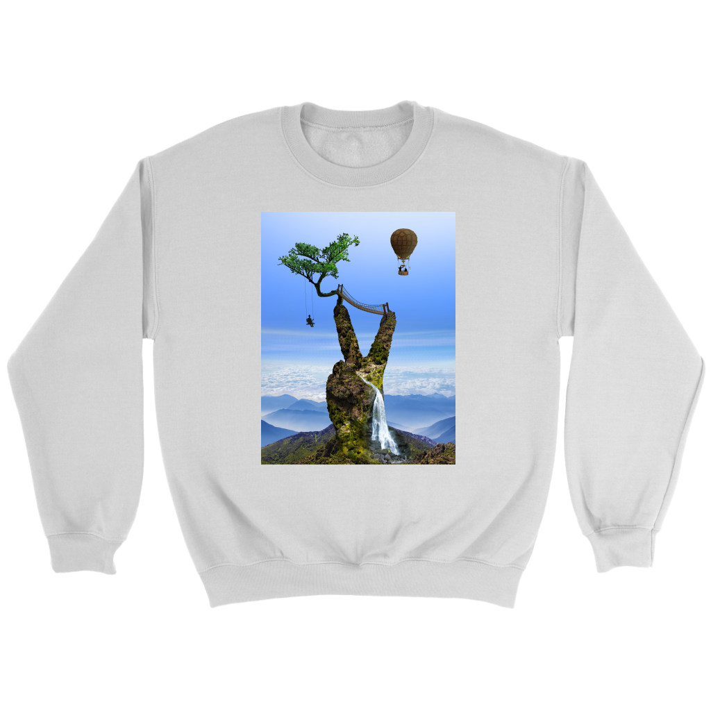 Serene Summit Sweatshirt - Jud Hayden Art