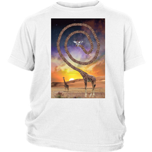 Spun Giraffe Youth Shirt - Jud Hayden Art