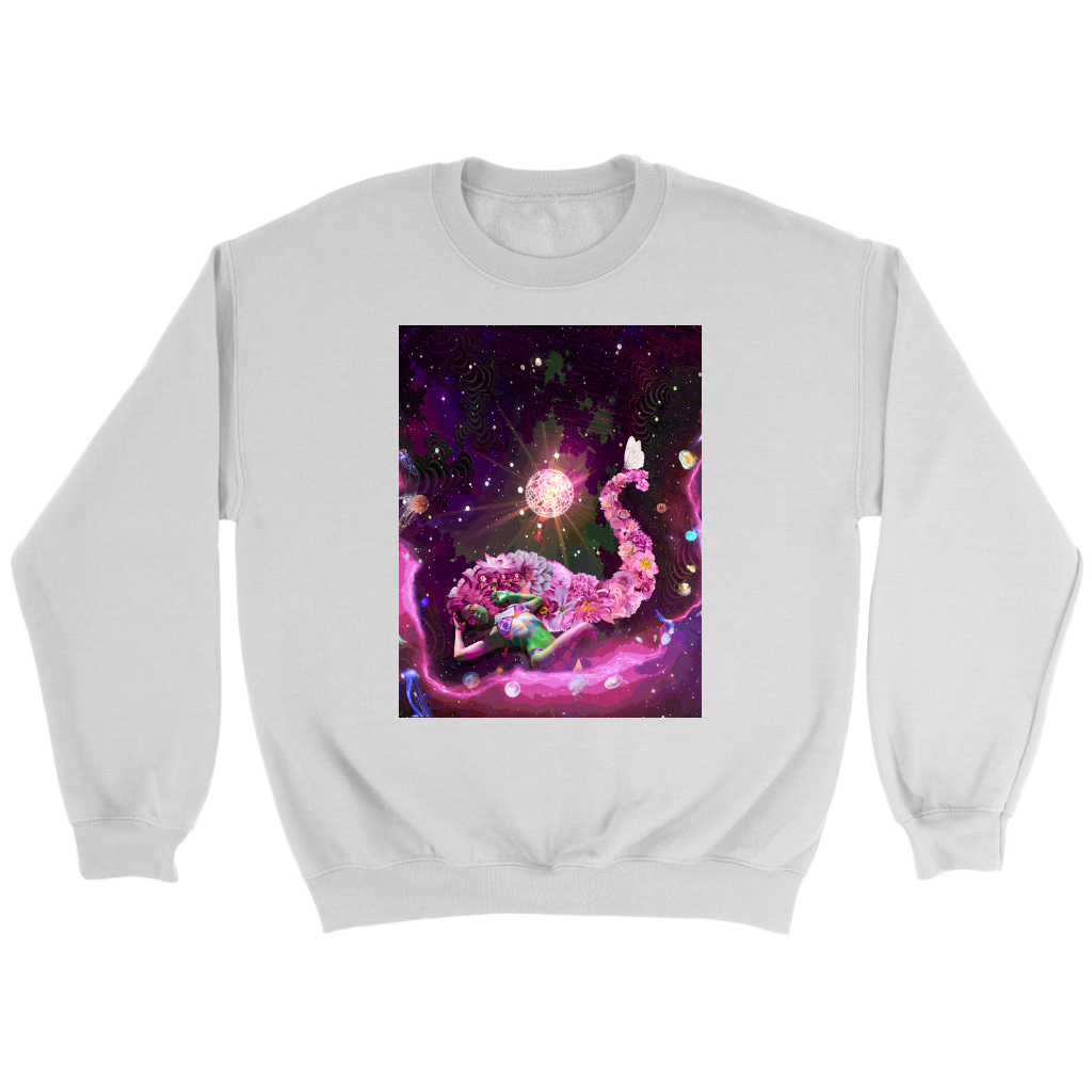 Galaxy Girl Sweatshirt - Jud Hayden Art