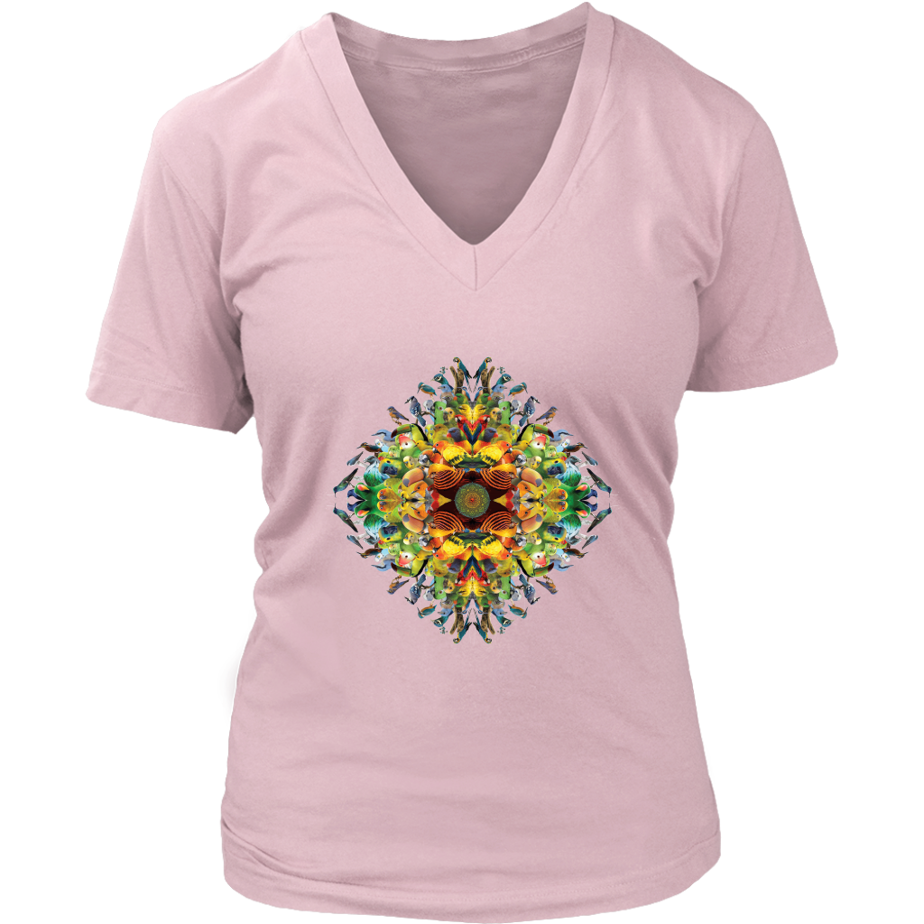 Bird Mandala Women's V-Neck - Jud Hayden Art