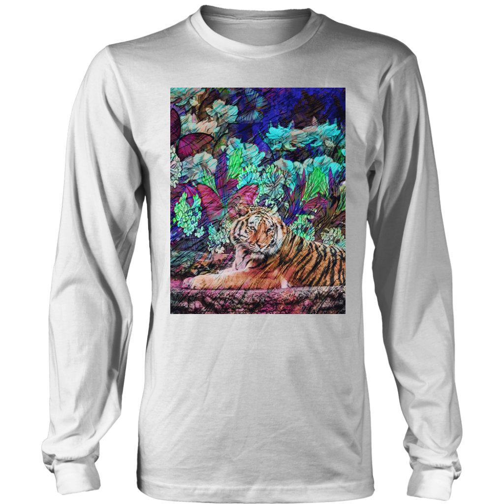 Butterfly Garden Long Sleeve - Jud Hayden Art