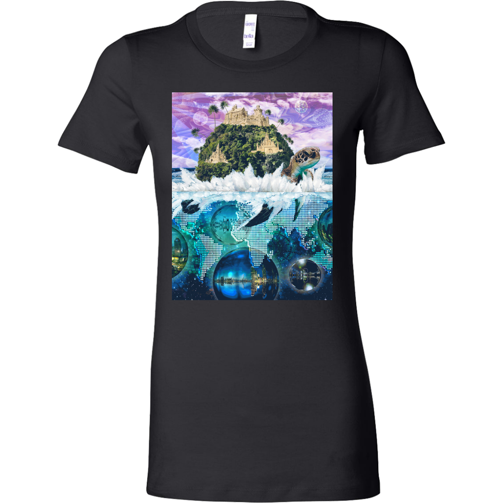 Turtle Island Women's Shirt - Jud Hayden Art