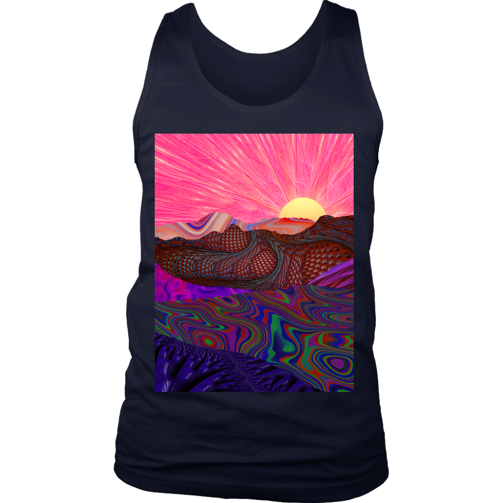 Trippy Trek Men's Tank - Jud Hayden Art