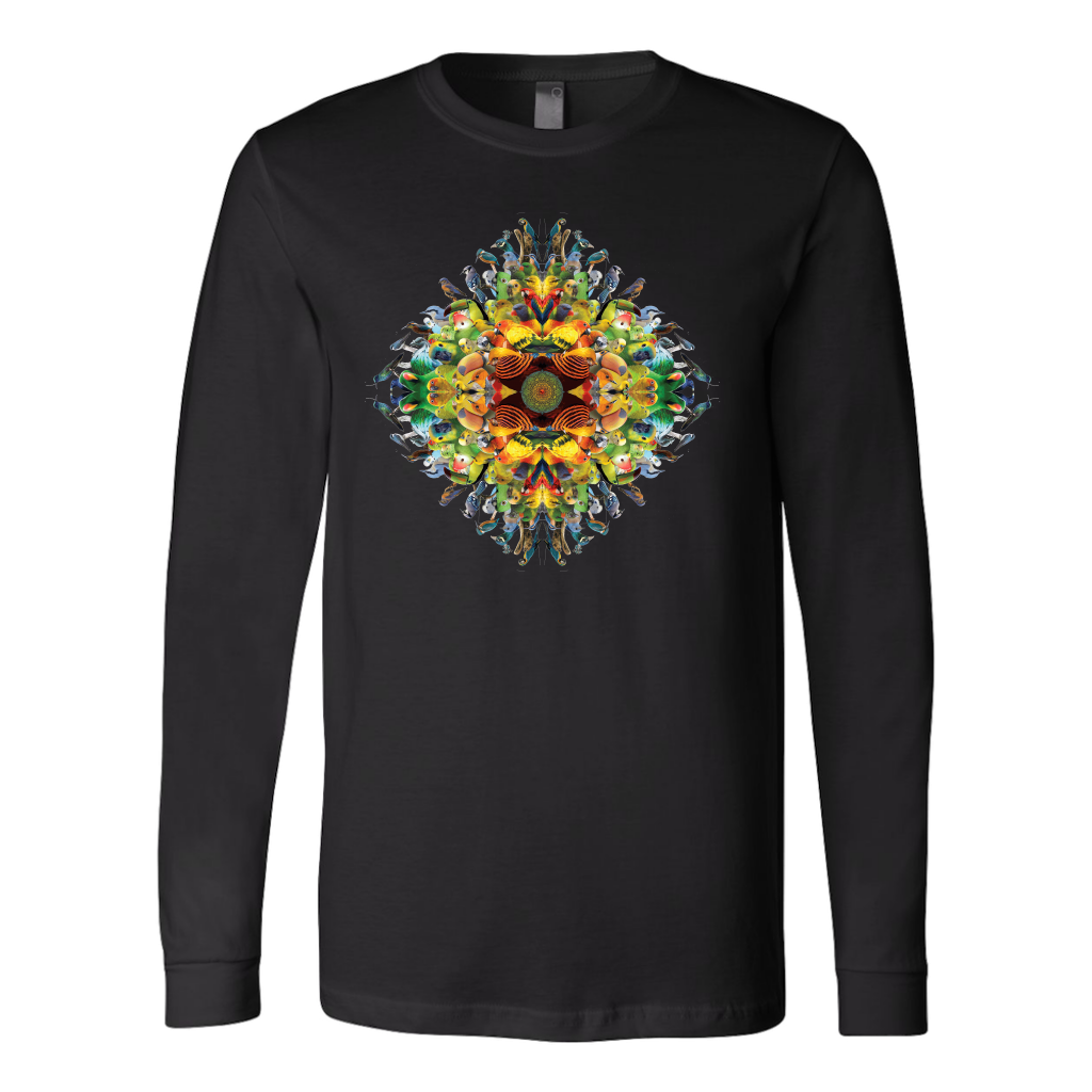 Bird Mandala Long Sleeve Shirt - Jud Hayden Art