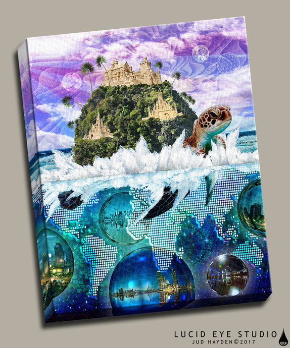 Turtle Island Canvas