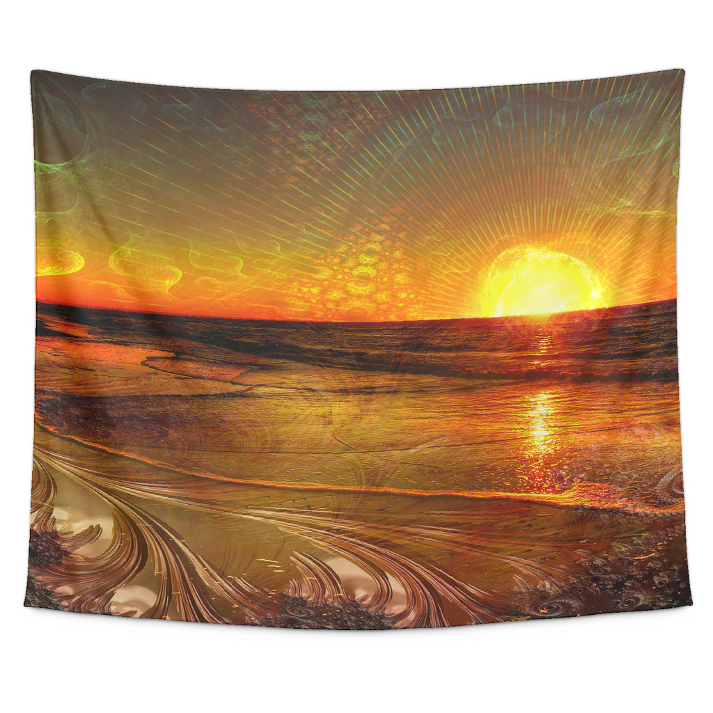 Fractal Sunset Tapestry - Jud Hayden Art