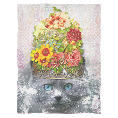 Finest Feline Fleece Blanket - Jud Hayden Art
