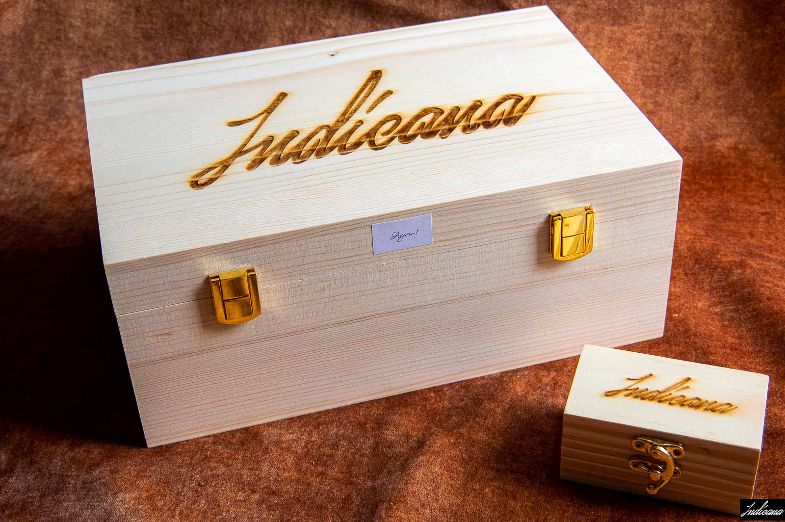 Pine Wood Boxes RIL Used for Gifting Aramco and Saudi Royal Family - By Indicana Oud