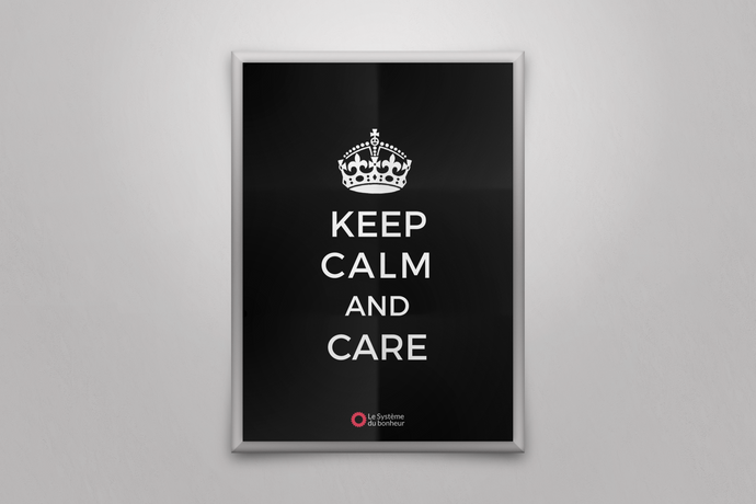 Affiche Keep Calm and CARE