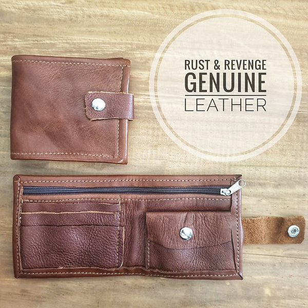 Raw Men's Wallet - dark Caramel