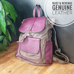 City Backpack - grey purple