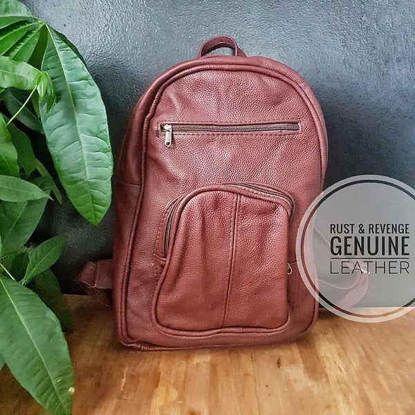 Large Backpack - maroon chocolate
