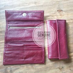 Ladies Wallet - maroon Red (discount)