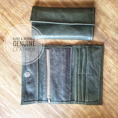 Ladies Wallet - dark olive (discount)