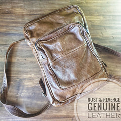 Square Medium Backpack - Caramel
