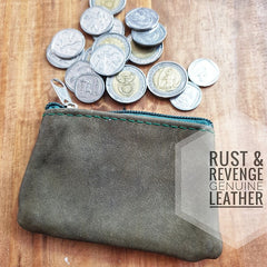 Coin Zip Pocket - Olive Green