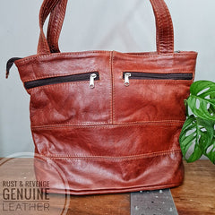 Geometric Shopper -  Cinnamon