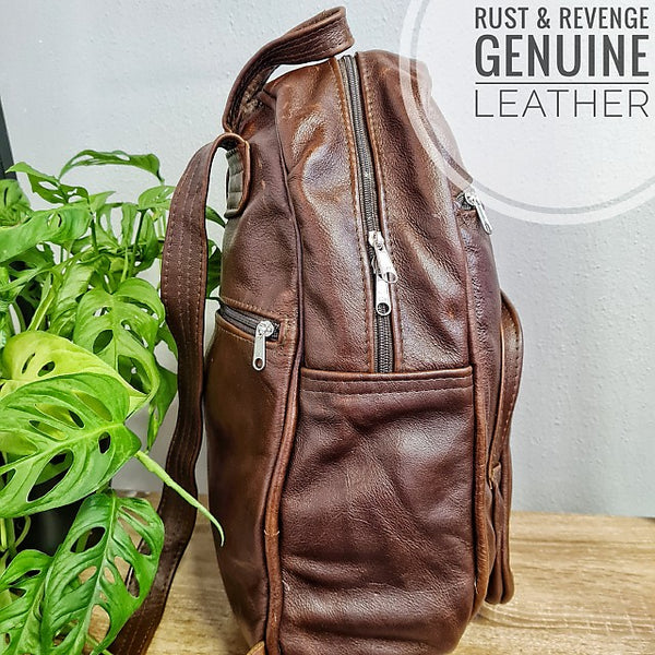 Large Backpack -  Dark Chocolate Caramel