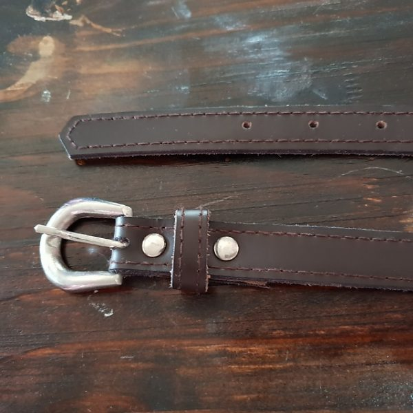 Leather Belt - Chocolate 104 x 2cm