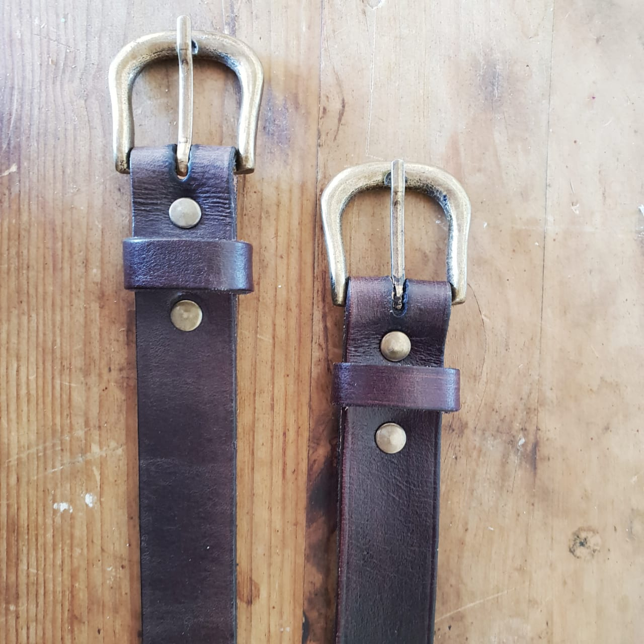 Leather Belt - Choc - 95 x 3cm