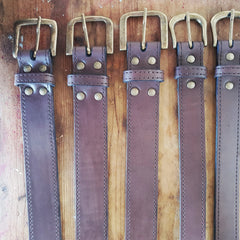 Leather Belt - Choc - 90 x 3cm