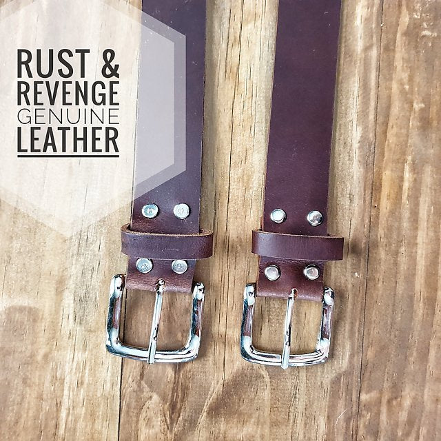 Leather Belt - Choc Cinnamon