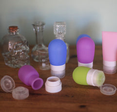 Refillable Silicone Cream Bottle - XSmall Green