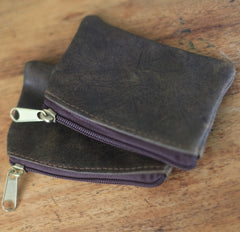Coin Zip Pocket - Dusted Black