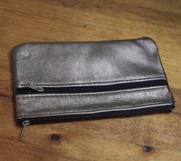 Double Zip - Pewter