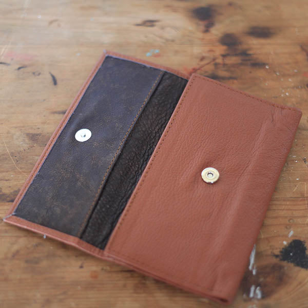Ladies Wallet - Sweet Caramel and Chocolate