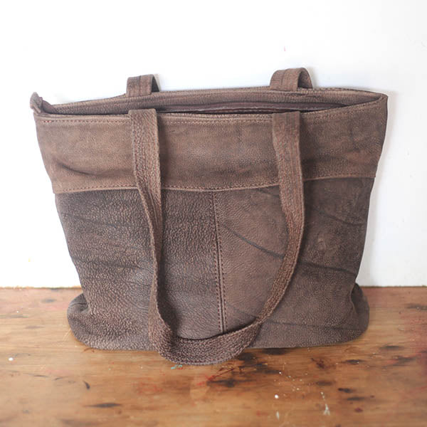 Geometric Shopper - Soft Chocolate