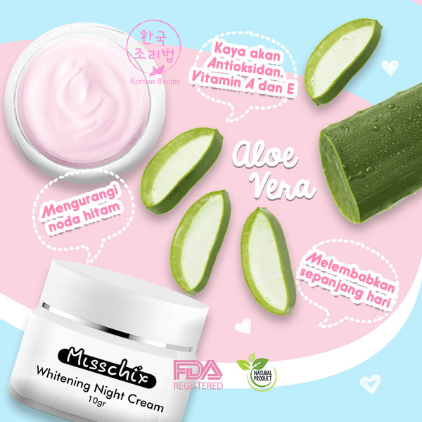 BEST SELLER ~ Misschix WHITENING NIGHT CREAM