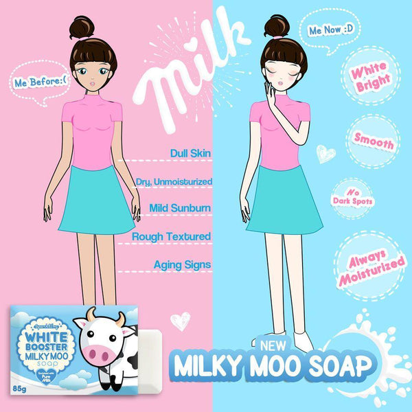 SPARKLING WHITE BOOSTER MILKY MOO SOAP