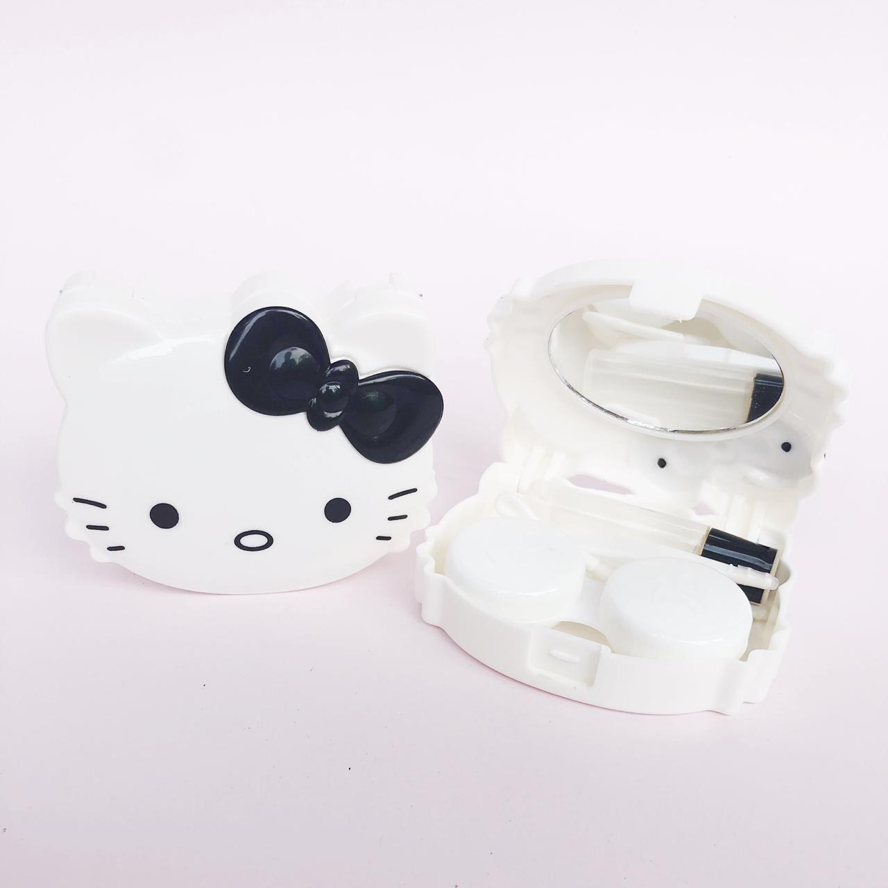Tempat Softlens Animal 3D Hello Kitty Pita Hitam