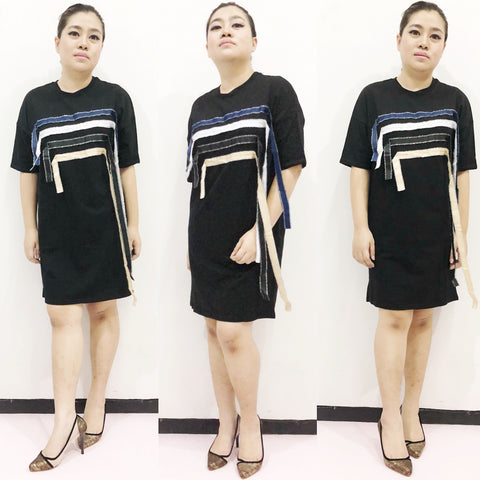 Dress Denim Stripe Black