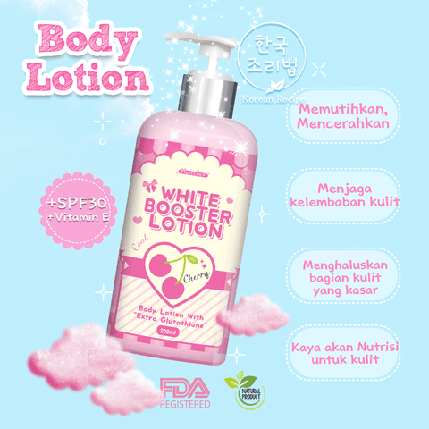 SPARKLING WHITE BOOSTER LOTION ~ CHERRY